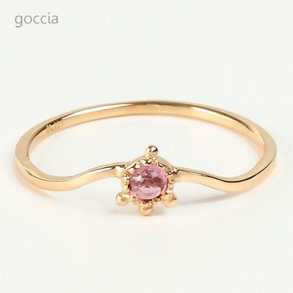 ピンクトルマリン リング プレゼント ONE|goccia|02