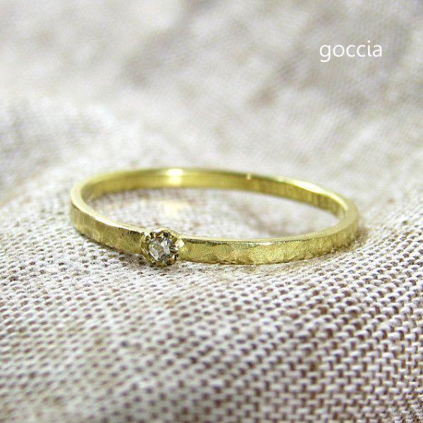 ローズカットダイヤ リング 18金 Legit|goccia