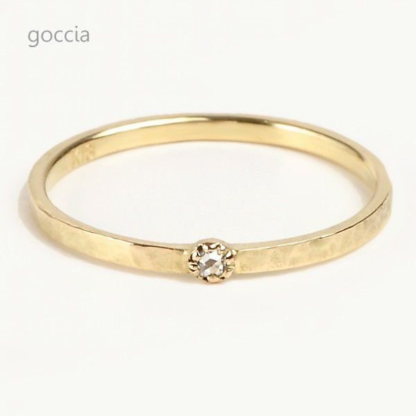 ローズカットダイヤ リング 18金 Legit|goccia|02