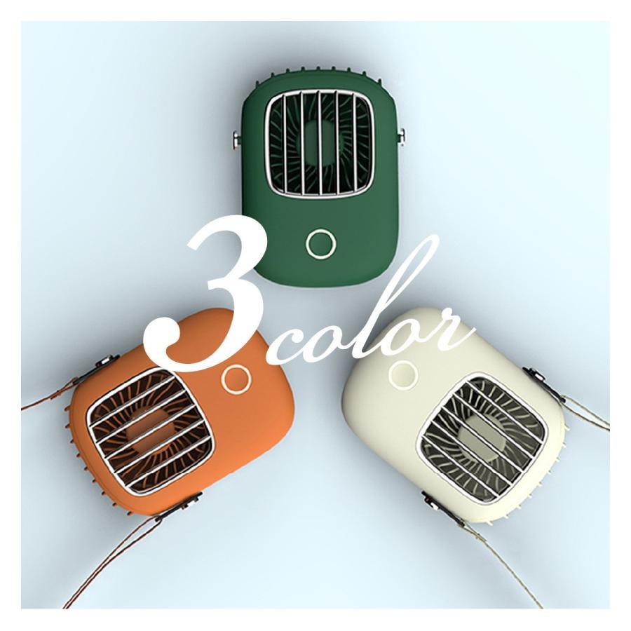 USB 扇風機 首かけ ハンディファン ミニ扇風機 卓上 ハンディ ミニ扇風機 持ち運び 携帯 小型 可愛い おしゃれ fan-09 gochumon 12
