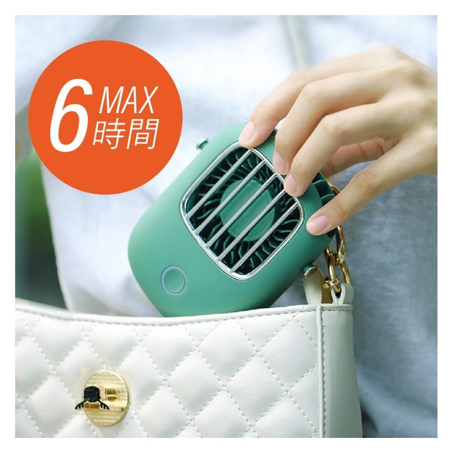 USB 扇風機 首かけ ハンディファン ミニ扇風機 卓上 ハンディ ミニ扇風機 持ち運び 携帯 小型 可愛い おしゃれ fan-09 gochumon 06