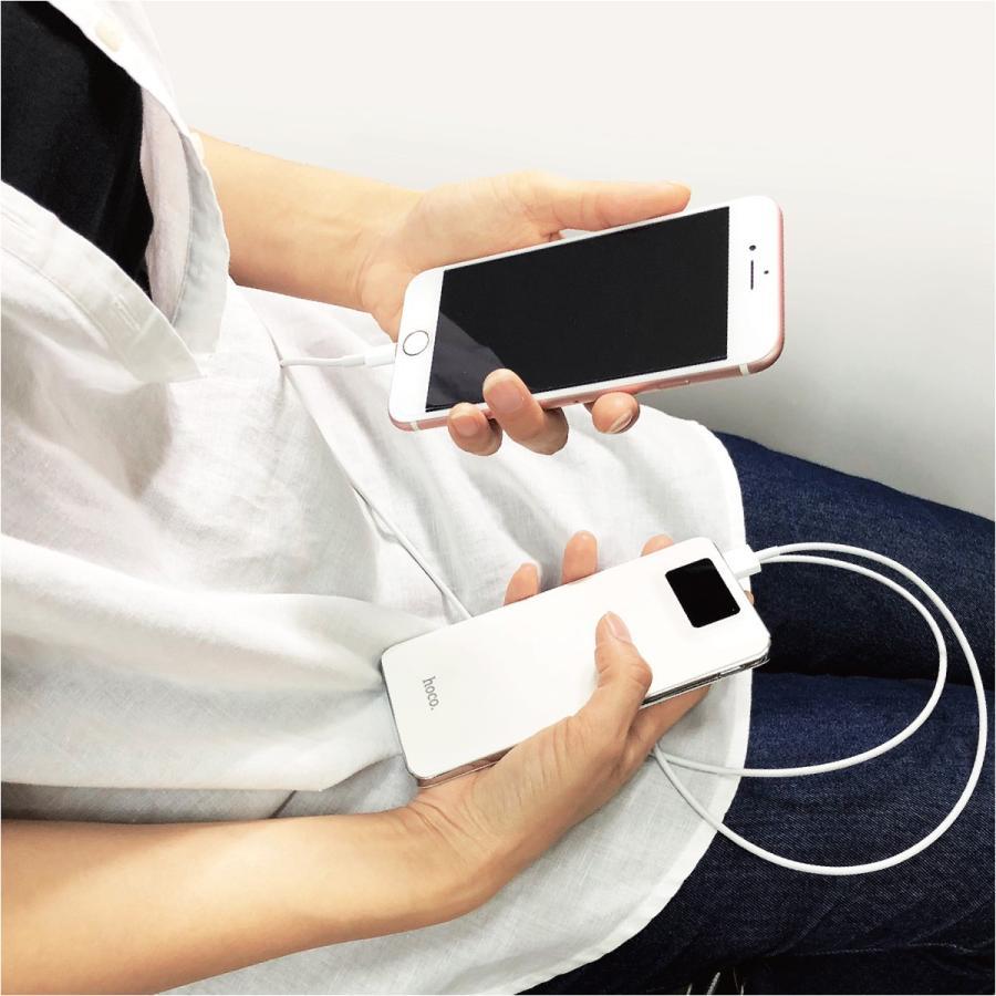 モバイルバッテリー 10000mAh 大容量 軽量 iPhone8 plus iPhone android スマホ 充電器 モバイル バッテリー hoco hoco-bt01|gochumon|18