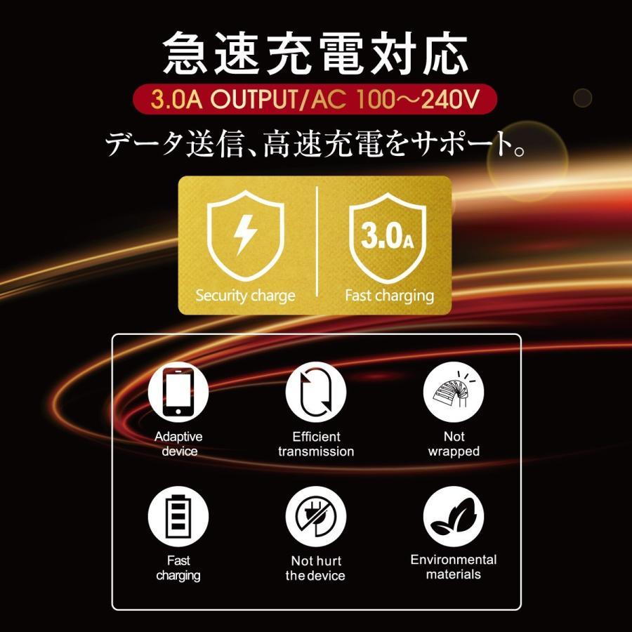 Type-C ケーブル 3A USB type-c タイプC ケーブル 両側 充電器 変換アダプタ ハブ 急速充電 3a 30cm 120cm 180cm switch スイッチ jiang-typec01|gochumon|02