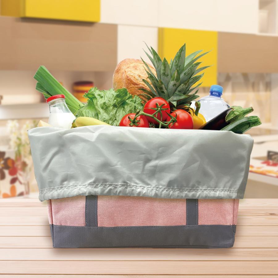 エコバッグ レジカゴ用 保冷 レジカゴ 保温 折りたたみ バッグ おしゃれ コンパクト 大容量 レジカゴ型 エコバッグ 母の日 デニム regi-bag-02|gochumon|04