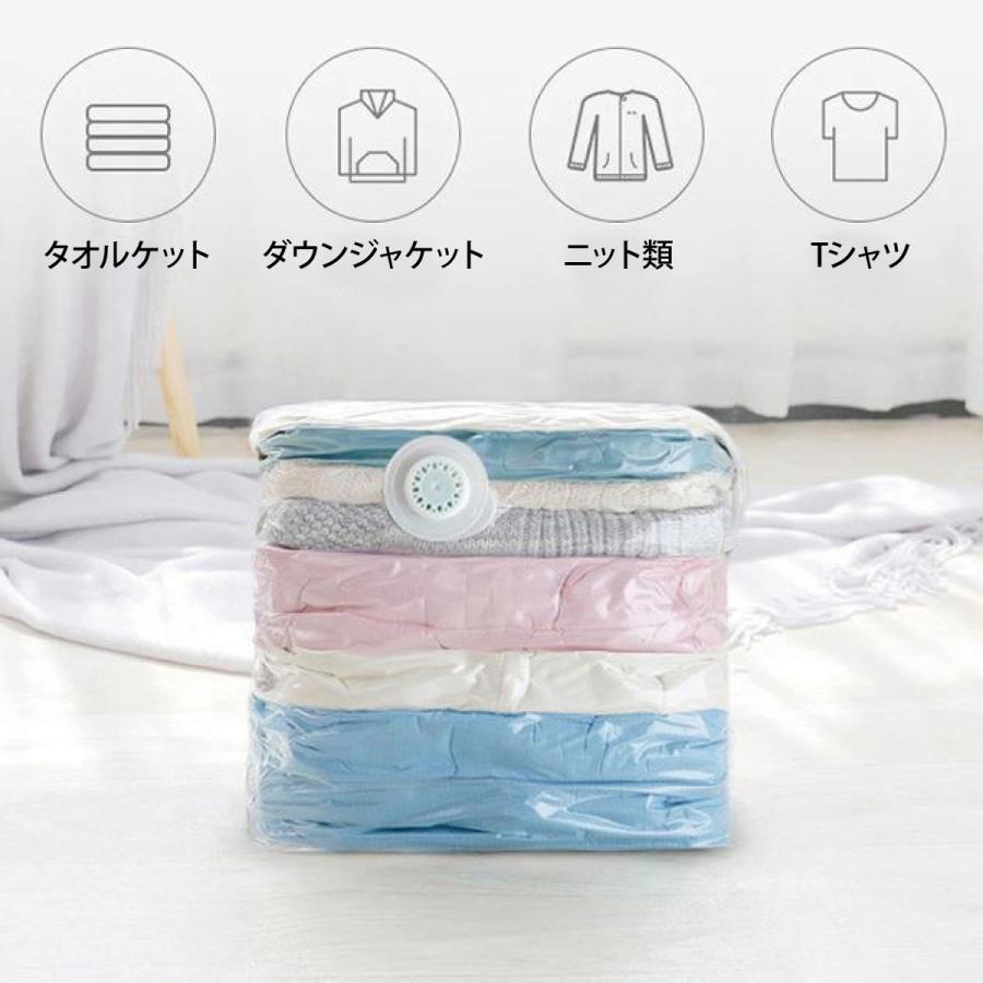 立体 圧縮袋 衣類 掃除機不要 2枚入り 押すだけ 圧縮ボックス 30cm×50cm×高さ70cm カビ対策 vc-bag-02 gochumon 02