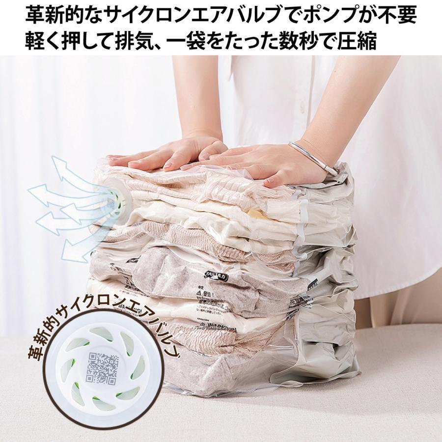 立体 圧縮袋 衣類 掃除機不要 2枚入り 押すだけ 圧縮ボックス 30cm×50cm×高さ70cm カビ対策 vc-bag-02 gochumon 05