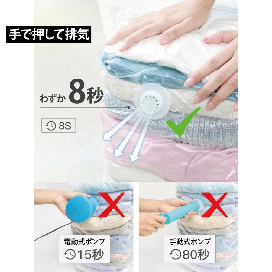 立体 圧縮袋 衣類 掃除機不要 2枚入り 押すだけ 圧縮ボックス 30cm×50cm×高さ70cm カビ対策 vc-bag-02 gochumon 07