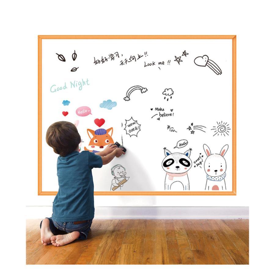 ホワイトボード シート 45×200cm 12色水性マジック付き 白板ステッカー 落書き 壁掛け おえかき 室内遊び w-board-s gochumon 19