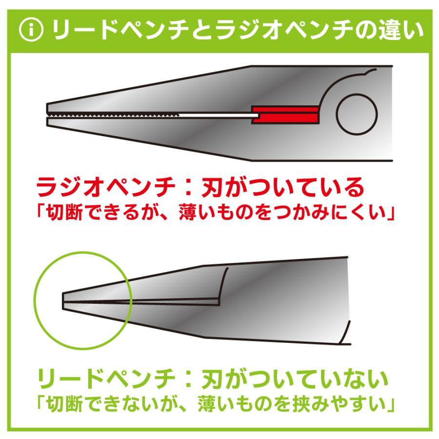 クラフトグリップシリーズ 平口リードペンチ 130mm バネ付 溝なし ゴッドハンド godhand 07