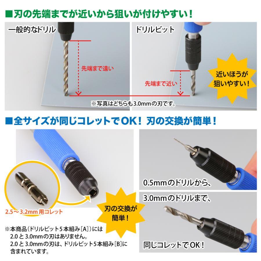 ドリルビット5本組[A] 0.5/0.6/0.7/0.8/0.9mm 5本セット ゴッドハンド godhand 03