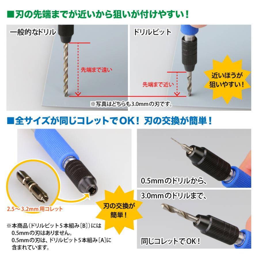 ドリルビット8本組[C] 1.1/1.2/1.3/1.4/ 1.6/1.7/1.8/1.9mm 8本セット ゴッドハンド godhand 03