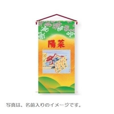 【雛人形タペストリー】【花個紋入り】姫【小】単品 高さ75cm 152865 座敷旗 室内幟