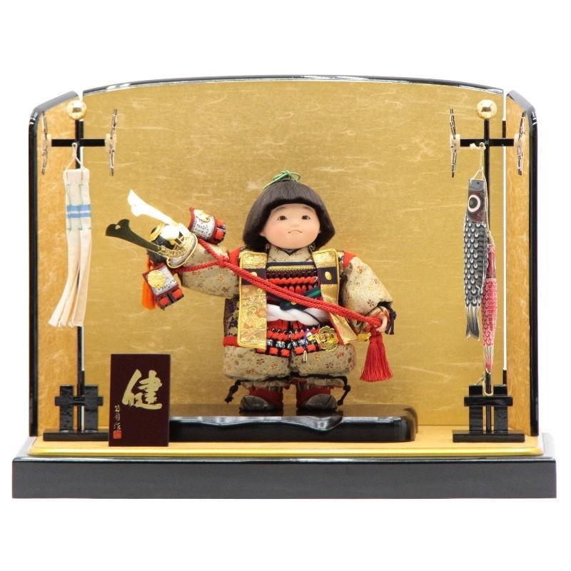 五月人形 子供大将平飾り【健】[195it1071]公司