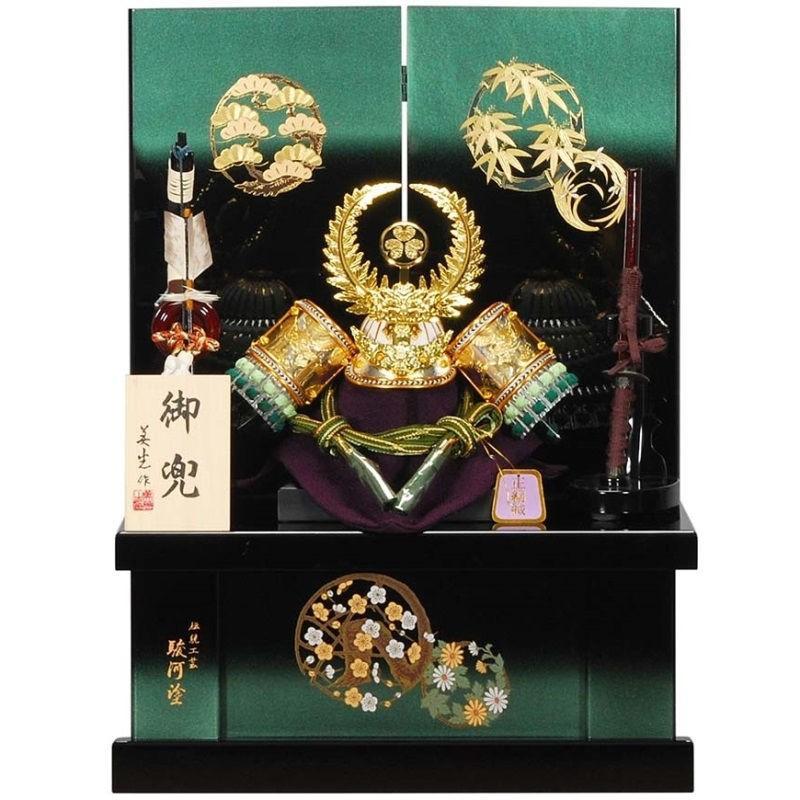 五月人形 兜 収納飾り 徳川家康 幅45cm [sb-16-144]