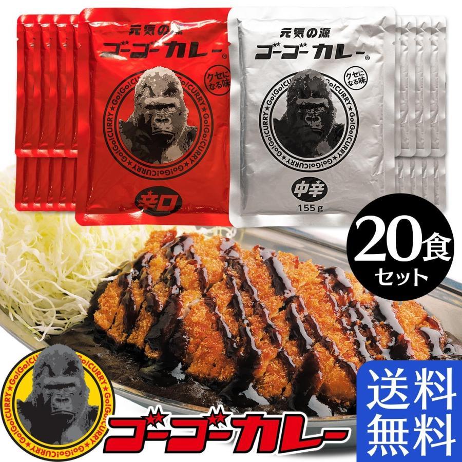 【送料無料】 ゴーゴーカレー 中辛 & 辛口 パウチ 2種20食セット