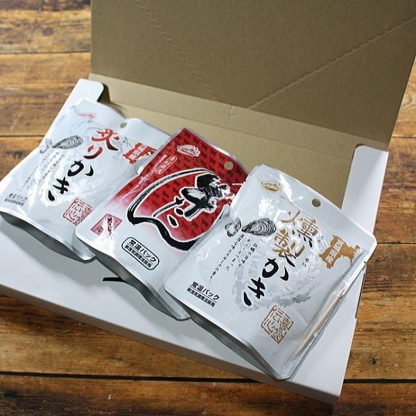 牛タン・牡蠣おつまみ3p  塩味牛たん・燻製かき・炙り牡蠣 人気のおつまみ 仙台名産 メール便 送料無料 goko-h 02