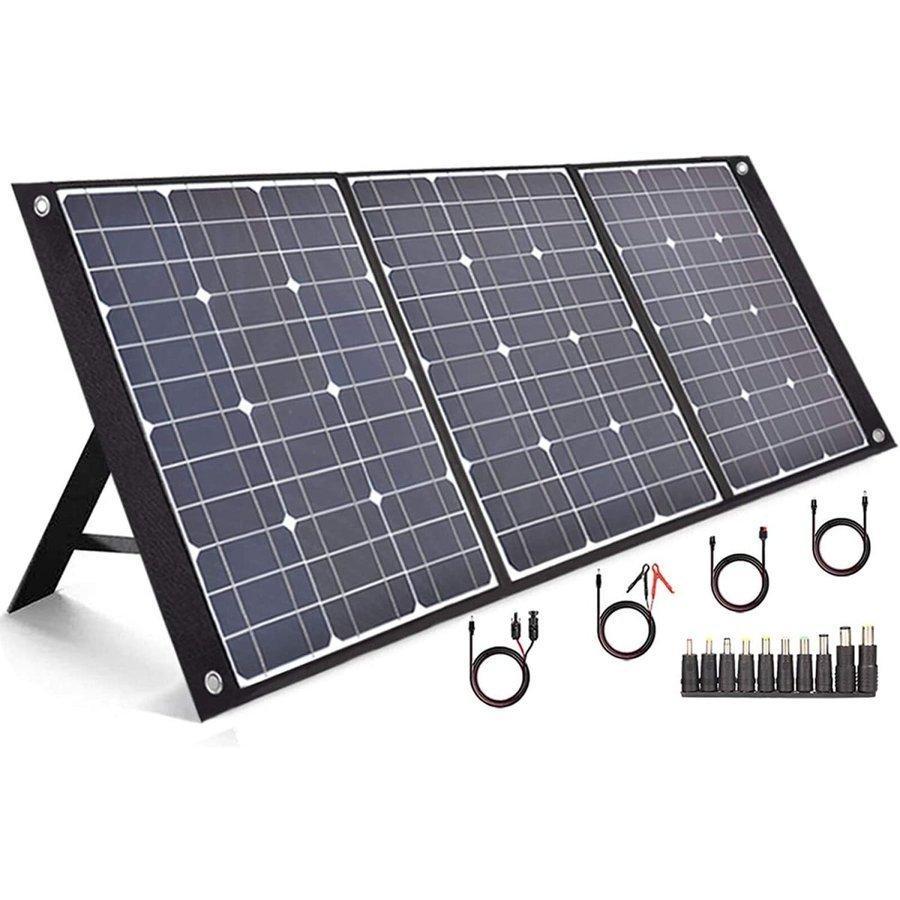 ソーラーパネル 100W ソーラーチャージャー 発電機 太陽光発電 DC出力/USB出力 防災 急速充電 折り畳み式 高変換効率/超薄型 お中元 ギフト gokurakudo1