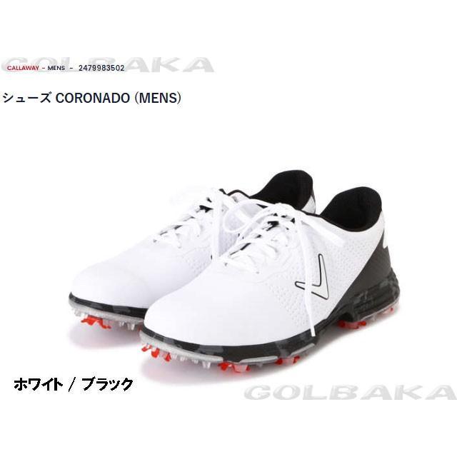 【新品】 【メンズ】【ゴルフシューズ】 キャロウェイ CORONADO 2479983502 カラー:ホワイト/ブラック