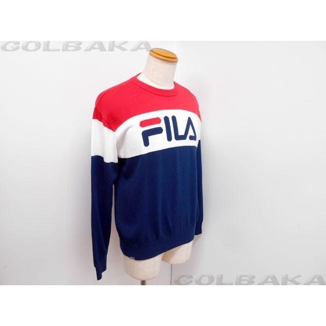 【新品】 FILA(フィラ) クルーネックセーター 789-761 【ゴルフウェア】【メンズ】【秋冬ウェア】【長袖】 【A】【w00】【P15】