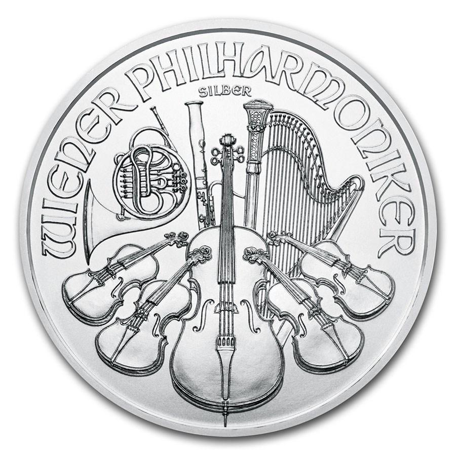 [保証書・カプセル付き] 2021年 (新品) オーストリア ウィーン銀貨 フィルハーモニー 1オンス 純銀貨 gold-ichiba