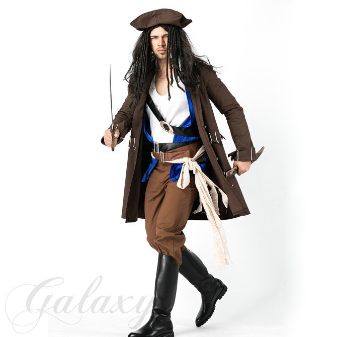 ハロウィン パイレーツ カリブ カリビアン 海賊 男性 メンズ 舞台 演出 イベント コスプレ衣装 ps3459(ps3459)