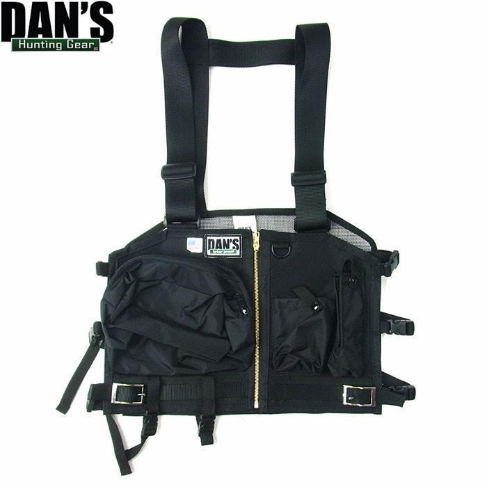 DAN'S HUNTING ダンズ ハンティング 422M Summer Strap Vest サマー ストラップ ベスト ハンティングベスト メンズ レディース ブラック 別注 送料無料