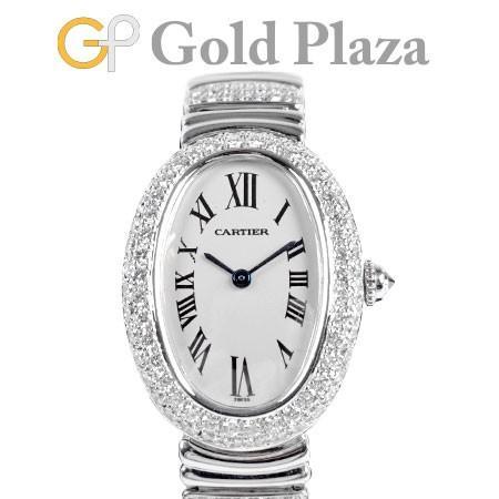 全国総量無料で カルティエ Cartier ベニュワール アフター ダイヤ K18WG クォーツ レディース 腕時計 シルバー文字盤 WB5097L2 1955, ミツカイドウシ 9b4ba838