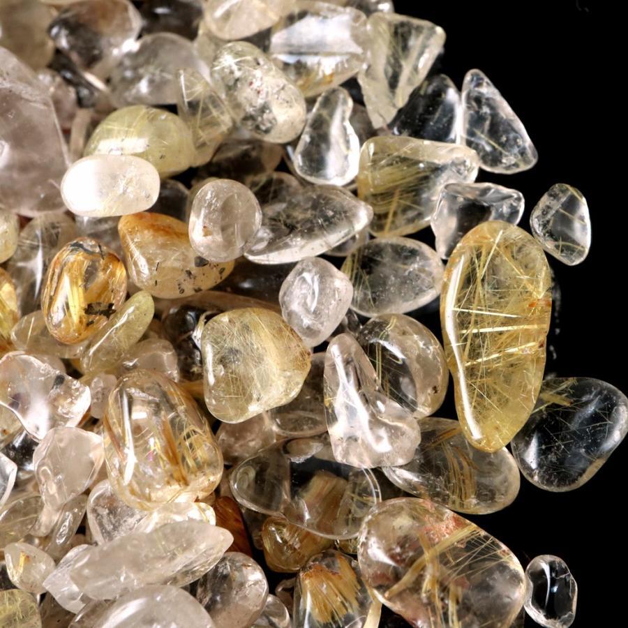 ゴールドルチル(針水晶) 高品質 さざれ石 100g 天然石 パワーストーン 浄化グッズ|goldstone|02