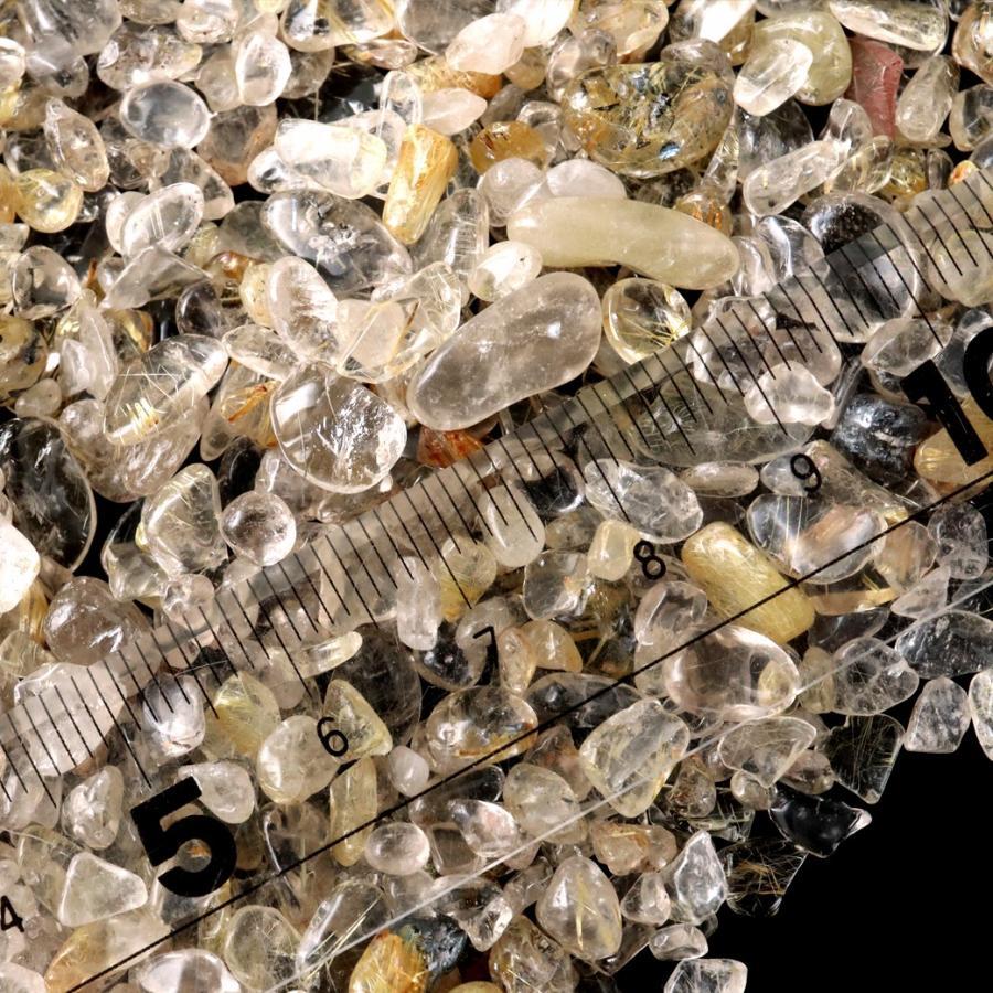ゴールドルチル(針水晶) 高品質 さざれ石 100g 天然石 パワーストーン 浄化グッズ|goldstone|03