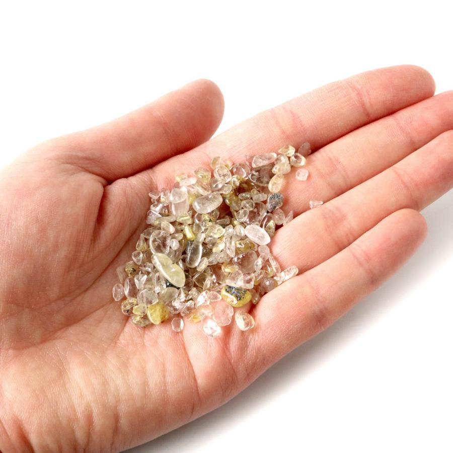 ゴールドルチル(針水晶) 高品質 さざれ石 100g 天然石 パワーストーン 浄化グッズ|goldstone|04