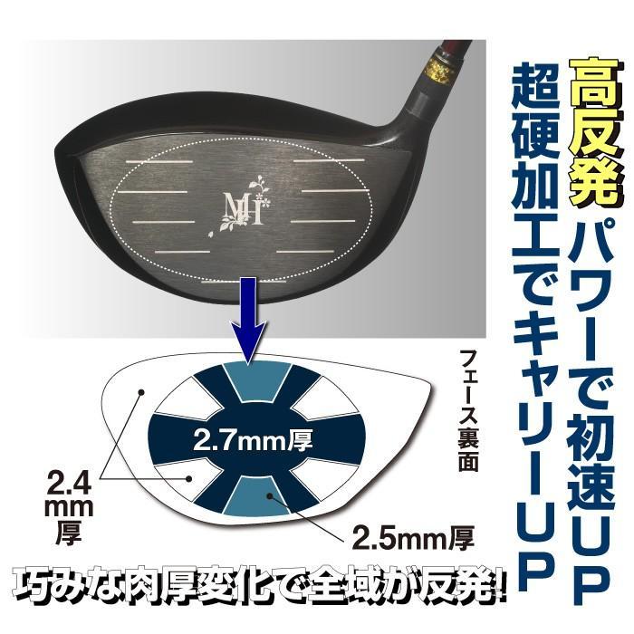 ムツミホンマ MH500X2 短尺 高反発ドライバー 非公認 シニア向け ゴルフクラブ 43.5インチ ルール不適合 golf-club 03