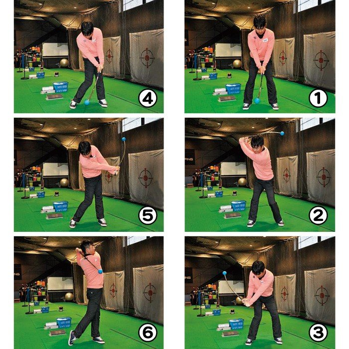 リンクス フレループ ショート ゴルフ練習器具 素振り スイング練習機 矯正 室内 おすすめ golf-club 04