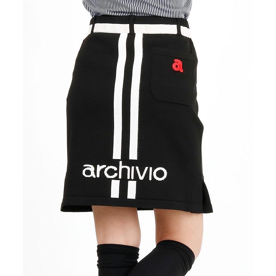 SALE Backライン ペチ付きニットスカート アルチビオ 19春夏新作 ゴルフウェア レディース スカート