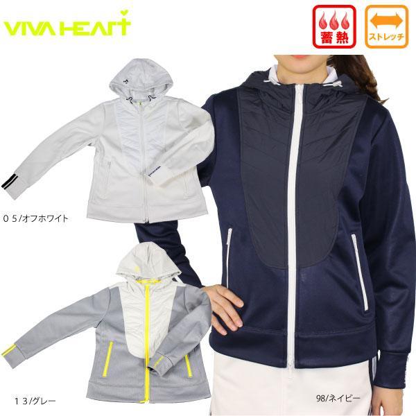 60%OFF VIVA HEART ビバハート012-56111 レディスハイブリッドブルゾン アウター 蓄熱 ストレッチ ゴルフウェア