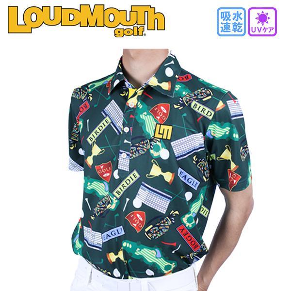 ラウドマウス ゴルフウエア メンズ ポロシャツ 半袖 ゴルフシャツ UVケア 大きいサイズ 吸水速乾 半袖ポロ 768-601-123 春夏