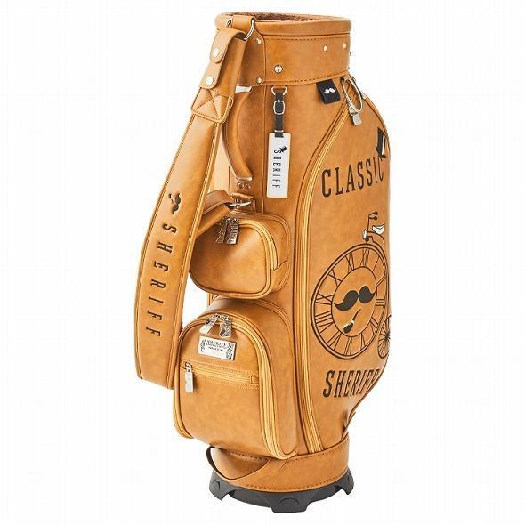 【先行予約】レトロな個性派 キャディバッグ 【SHERIFF】 シェリフ ゴルフバッグ メンズ レディース 数量限定 SFC-012CB-CARAMEL|golf-regolith|02
