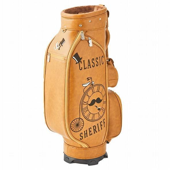 【先行予約】レトロな個性派 キャディバッグ 【SHERIFF】 シェリフ ゴルフバッグ メンズ レディース 数量限定 SFC-012CB-CARAMEL|golf-regolith|03