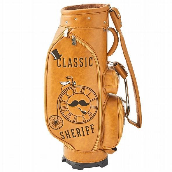 【先行予約】レトロな個性派 キャディバッグ 【SHERIFF】 シェリフ ゴルフバッグ メンズ レディース 数量限定 SFC-012CB-CARAMEL|golf-regolith|04