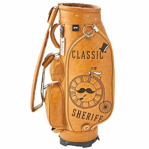 【先行予約】レトロな個性派 キャディバッグ 【SHERIFF】 シェリフ ゴルフバッグ メンズ レディース 数量限定 SFC-012CB-CARAMEL|golf-regolith|05