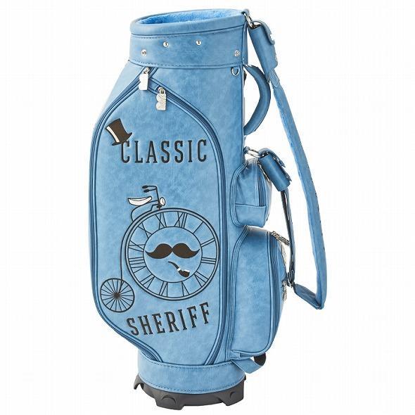 【先行予約】レトロな個性派 キャディバッグ 【SHERIFF】 シェリフ ゴルフバッグ メンズ レディース ターコイズ ブルー 数量限定 SFC-012CB-TURQUOISE|golf-regolith|04