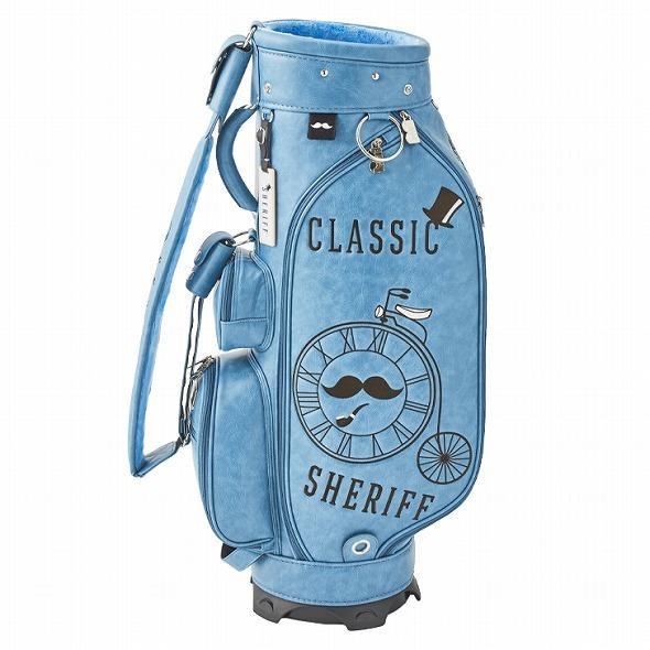 【先行予約】レトロな個性派 キャディバッグ 【SHERIFF】 シェリフ ゴルフバッグ メンズ レディース ターコイズ ブルー 数量限定 SFC-012CB-TURQUOISE|golf-regolith|05