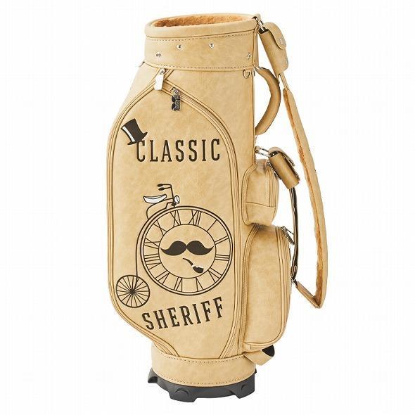 【先行予約】レトロな個性派 キャディバッグ 【SHERIFF】 シェリフ ゴルフバッグ メンズ レディース ベージュ 数量限定 SFC-012CB-VANILA golf-regolith 04