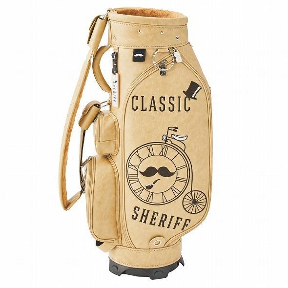 【先行予約】レトロな個性派 キャディバッグ 【SHERIFF】 シェリフ ゴルフバッグ メンズ レディース ベージュ 数量限定 SFC-012CB-VANILA golf-regolith 05