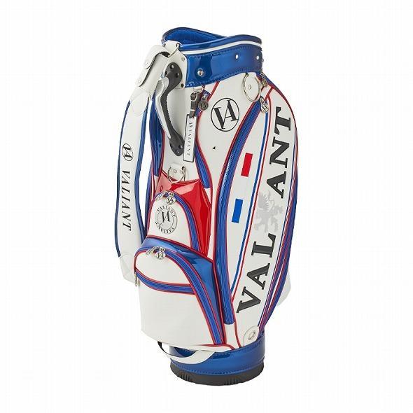 【先行予約】男前カラーの配色【VALIANT】 ヴァリアント かっこいい 数量限定 キャディバッグ ゴルフバッグ メンズ 青 白 ホワイト VA-005CB-FRANCE|golf-regolith|02