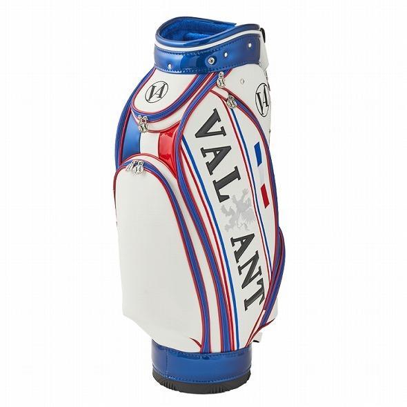 【先行予約】男前カラーの配色【VALIANT】 ヴァリアント かっこいい 数量限定 キャディバッグ ゴルフバッグ メンズ 青 白 ホワイト VA-005CB-FRANCE|golf-regolith|03