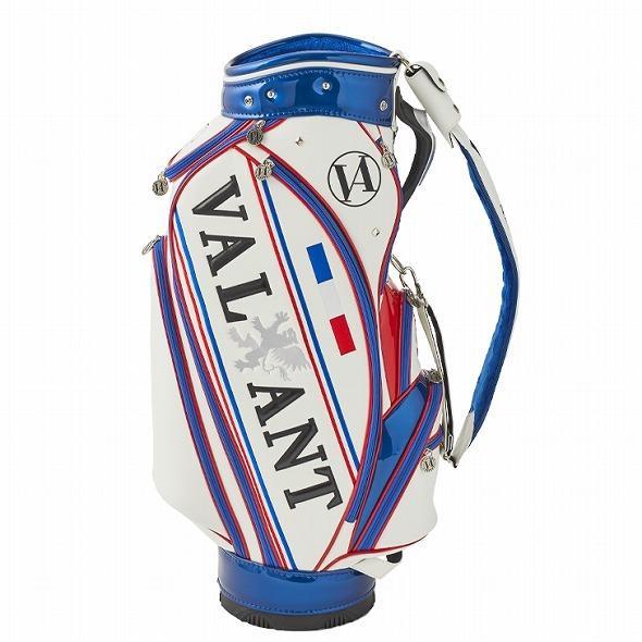 【先行予約】男前カラーの配色【VALIANT】 ヴァリアント かっこいい 数量限定 キャディバッグ ゴルフバッグ メンズ 青 白 ホワイト VA-005CB-FRANCE|golf-regolith|05