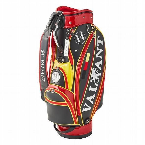 【先行予約】男前カラーの配色【VALIANT】 ヴァリアント かっこいい 数量限定 キャディバッグ ゴルフバッグ メンズ ブラック 黒 赤 VA-005CB-GERMANY|golf-regolith|02