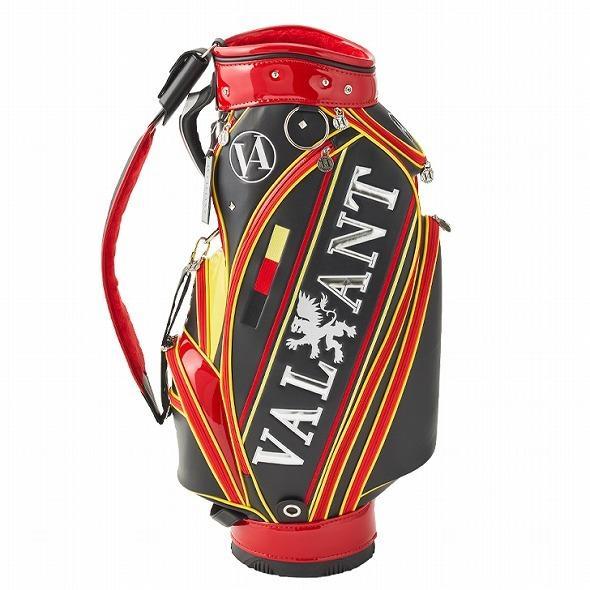 【先行予約】男前カラーの配色【VALIANT】 ヴァリアント かっこいい 数量限定 キャディバッグ ゴルフバッグ メンズ ブラック 黒 赤 VA-005CB-GERMANY|golf-regolith|04