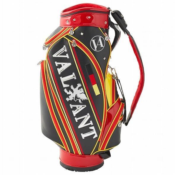 【先行予約】男前カラーの配色【VALIANT】 ヴァリアント かっこいい 数量限定 キャディバッグ ゴルフバッグ メンズ ブラック 黒 赤 VA-005CB-GERMANY|golf-regolith|05