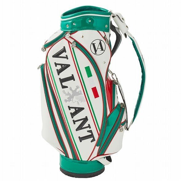 【先行予約】男前カラーの配色【VALIANT】 ヴァリアント かっこいい 数量限定 キャディバッグ ゴルフバッグ メンズ 緑 白 ホワイト VA-005CB-ITALY|golf-regolith|05